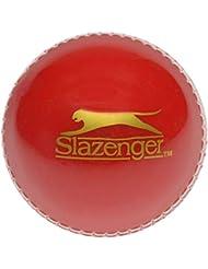 Slazenger Oscillante Allenamento Palla da Cricket Rosso/Bianco - Rosso, da Adulto