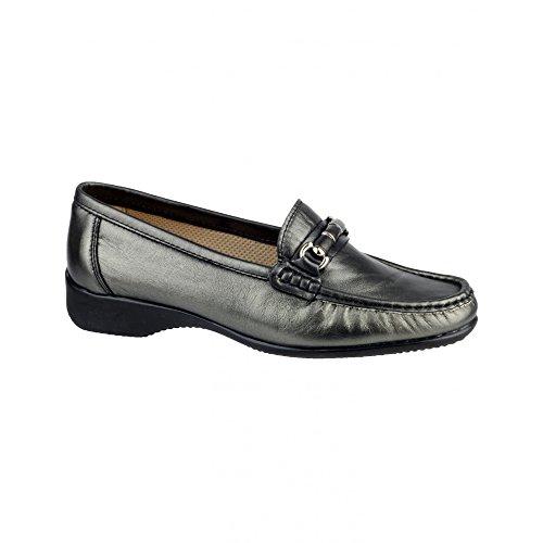 Cotswold Barrington Damen Schuhe/Loafer / Mokassins (42 EUR) (Zinn) (Zinn-leder-schuhe)