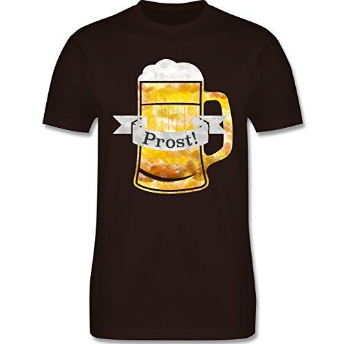 Oktoberfest Herren - Prost Bierkrug Wasserfarben - Herren Premium T-Shirt Braun