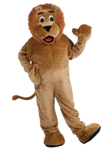 Deluxe Plush Adult Lion Mascot Costume One Size Fits Most
