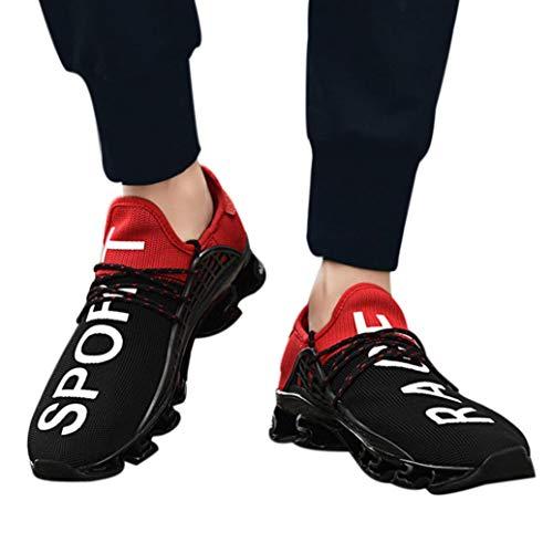 Sneaker Herren Freien Laufschuhe Männer Elastische Mesh Turnschuhe Sport Atmungsaktiv Laufschuhe Atmungsaktiv Sportschuhe Fitness Joggingschuhe Lace Up Bequeme Freizeitschuhe Gym Schuhe,ABsoar