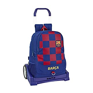 Mochila Espalda Ergonómica de FC Barcelona 1ª Equip. 19/20 Oficial con Carro Safta Evolution