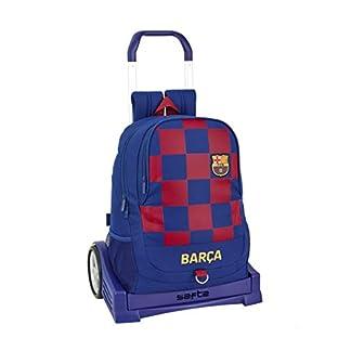 41MKCF9QMxL. SS324  - Mochila Espalda Ergonómica de FC Barcelona 1ª Equip. 19/20 Oficial con Carro Safta Evolution