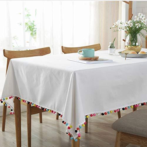 Dafa Nordic White Original Mantel Puro Tela Estilo