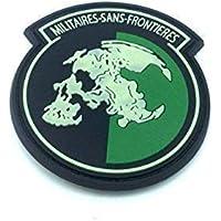 Military Sans Frontieres Brillan En La Oscuridad Metal Gear Solid PVC Airsoft Velcro Patch