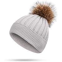 BLACK ELL Sombrero de Dama de otoño e Invierno, Gorro de algodón para Damas para Hombres, Abrigos cálidos y cómodos Ajustables, 4