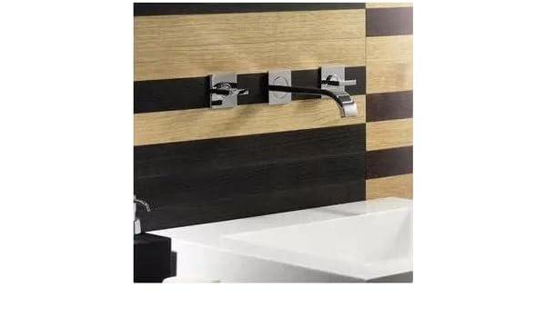 Robinet de cuisine en chaud et froid en robinet de cuisine eau chaude et froide du bassin lavabo suspendu mural robinet double robinet en c/éramique bobine Convient pour la cuisine de salle de bain