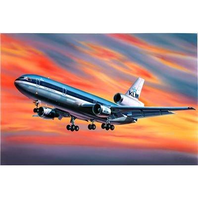 Revell Modellbausatz Flugzeug 1:320 - McDonnell Douglas DC-10 im Maßstab 1:320, Level 3, originalgetreue Nachbildung mit vielen Details, Zivilflugzeug, Passagierflugzeug, 04211