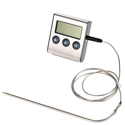 2016wurde Digital Thermometer für Ofen Digital LCD Display Sonde Lebensmittel Thermometer Timer Kochen Küche BBQ Fleisch (Cooking Thermometer-timer Digitale)