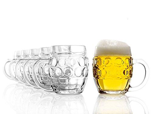 Stölzle Oberglas Tübinger Augenkanne, Pintglas, Kugel, 0,5 l - mit Füllstrich, Traditionelles...