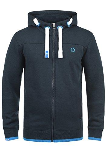 SOLID BenjaminZip Herren Sweatjacke Kapuzen-Jacke Zip-Hoodie aus hochwertiger Baumwollmischung, Größe:XL, Farbe:Insignia Blue (1991)
