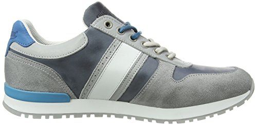 Cycleur de luxe - New Sanremo, Sneaker alte Uomo Grigio (Grau (LIGHT GREY + JEANS BLUE + STRONG AQUA + OFF WHITE))