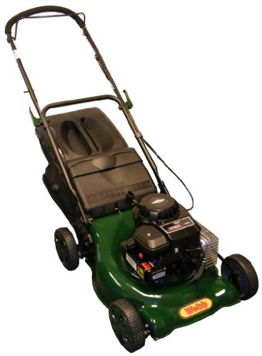 Webb 18in/46cm Push Petrol Four Wheeled Steel Deck Lawnmower