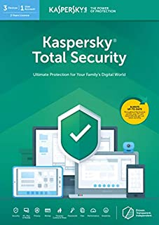 Kaspersky Total Security 2020   3 Devices   2 Years   Antivirus, Secure VPN and Password Manager Included   PC/Mac/Android   Online Code (B07H6TWP26)   Amazon price tracker / tracking, Amazon price history charts, Amazon price watches, Amazon price drop alerts