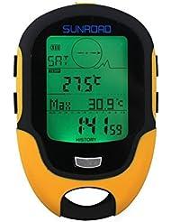 Home Care Wholesale® Digital multifunción altímetro, barómetro, brújula para deportes (Sunroad Modelo fr-500)