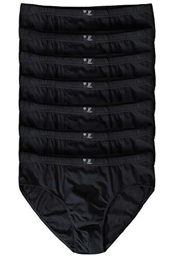 JP 1880 Herren große Größen bis 16 | Pants 7er Pack| Unterhosen, Schlüpfer, Slips, Hipster, Boxer-Shorts | Elastikbund | schwarz 16 711244 10-16