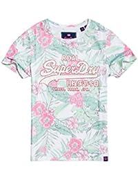 41fb27195 Superdry Vintage Logo Tropical AOP Entr Camiseta para Mujer
