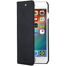 "iPhone 6 / 6s Plus Funda tipo libro piel PU CASEZA Negra - Case Cover Carcasa plegable cartera ""Oslo"" piel vegana premium para Apple iPhone 6/6s Plus (5.5"") - Ultrafina con cierre magnético"