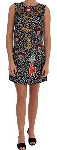 Multicolor Leo Jaquard Crystal Embellished Dress