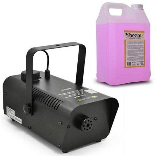 Beamz S900 Set macchina del fumo nebbia smoke maker professionale con liquido(900 Watt, 70m³ al minuto, telecomando, liquido 5 litri)