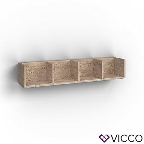 VICCO Wandregal 90 cm Sonoma Eiche - für CD DVD