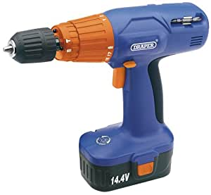 Draper 88451 14.4-Volt Cordless Variable Speed Combination Hammer Drill Ni-CD Battery