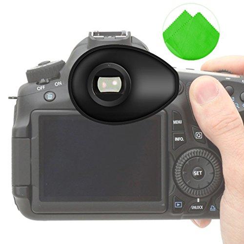 First2savvv Calidad premium Cámara réflex DSLR 22mm Ojera para Nikon D750 D610 D600 D500 D300S D7200 D7100 D7000 D90 D5500 D5300 D5200 D5000 D3400 D3300 D3200 D3100 D700 D300 D200 D100 D80 D70 D60 D70 D60 DSLR Camera + paño de limpieza - QJQ-TX-P-P01G11