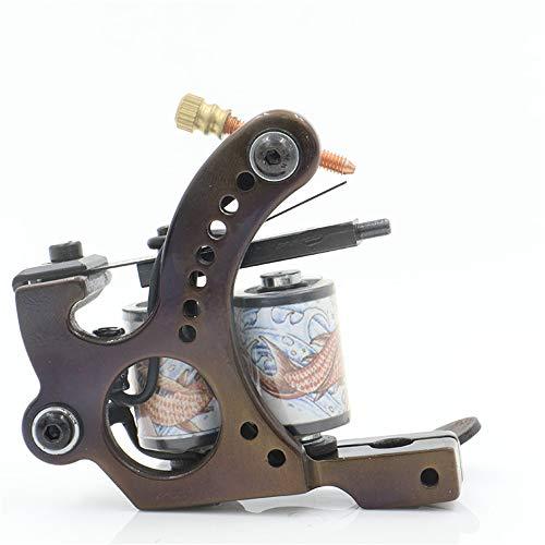 10 Verpackungs-Spule Tattoo Maschine Günstige-Tattoo-Maschinen Gusseisen Liner Shader Handmade Tätowiermaschinen