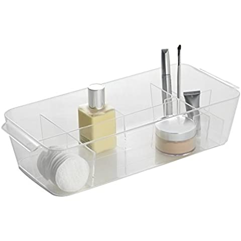 mDesign organizzatore cosmetici diviso per trucco, prodotti di bellezza -