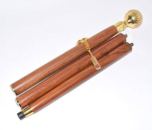 Bastón de madera maciza con mango redondo