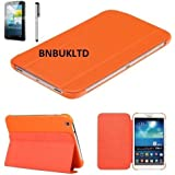ULTRA THIN Smart Book stand PU Leather Case Cover for various samsung Tablets (Samsung Galaxy Tab 3 7 Inch P3200 P3210, Orange)