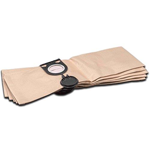vhbw 5 Staubsaugerbeutel Filtertüten aus Papier für Staubsauger Saugroboter Mehrzwecksauger Metabo AS 1200, AS 20 L, AS 8520, ASA 1201