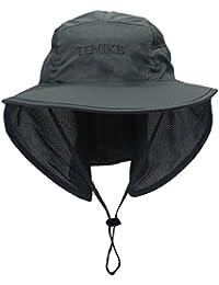lenikis Unisex Actividades al aire libre UV Protección Sol sombreros con cuello solapa