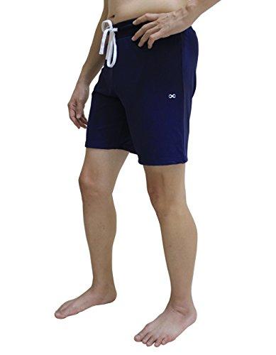 YogaAddict Yoga-Shorts für Herren, schnelltrocknend, Keine Taschen, Kordelzug, Yoga, Pilates, Fitnessstudio, Training, Aktivbekleidung, Herren, Navy Blue (with Inner Liner), X-Large -