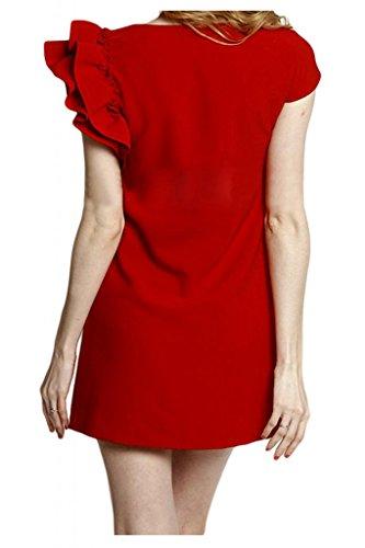 Sunvary spalle, con parte posteriore aperta, in Chiffon, e paillettes, per damigella d'onore, Prom Dress-Gowns Fuchsia