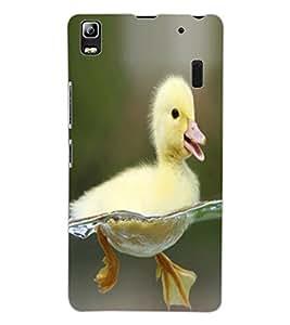 ColourCraft Cute Duck Design Back Case Cover for LENOVO K3 NOTE