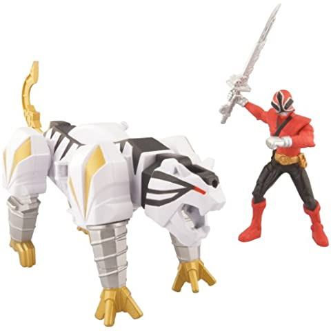 Power Rangers Samurai Súper Tiger Zord Vehículo Set - Rojo