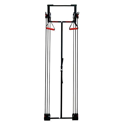 Fitness House FH Tower Kinesis Home Door Gym Multi Trainingsgerät Kraftstation, Black, One Size (Kompakte Multi-gym)