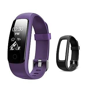 Fitness Tracker mit Pulsmesser, Letsfit Fitness Smart Armband Uhr IP67 Wasserdicht Aktivitätstracker, Schrittzähler, Kalorienzähler, Schlafmonitor,Sport Uhr Anruf SMS Reminder für Android/iOS