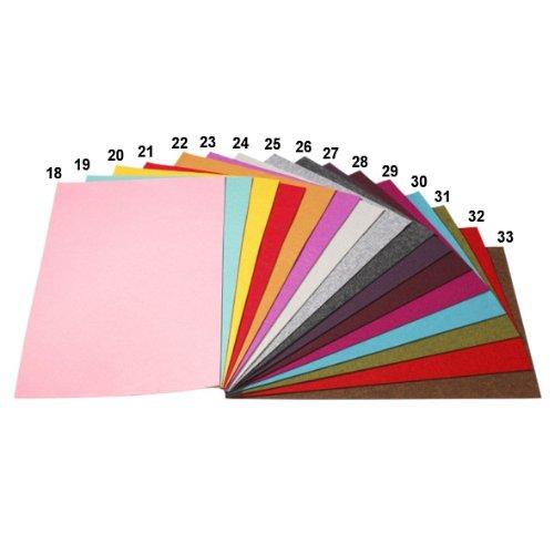 Filz-Platte 75 x 50 cm 3 mm dunkelgrau meliert