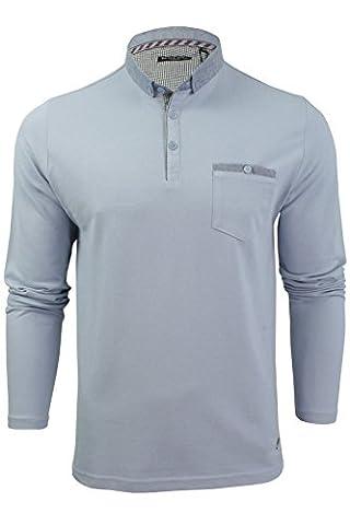 Brave Soul 'Hera' T-shirt/ Polo à manches longues - Homme (Bleu sombre) L
