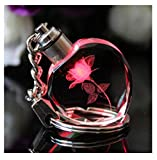 Gift Led Details About New Fairy Heart Square Crystal Light Charm Key Chain Key Ring Keyring B