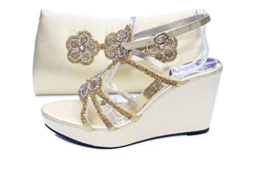 Wear & Walk UK , Damen Sandalen Gold