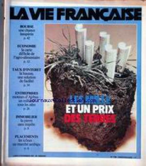 VIE FRANCAISE (LA) [No 1796] du 12/11/1979 - LES MILLE ET UN PRIX DES TERRES - BOURSE - ECONOMIE - TAUX D'INTERET - ENTREPRISES - IMMOBILIER - PLACEMENTS par Collectif