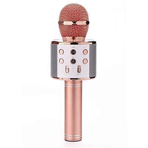 Handheld-Karaoke-Mikrofon, Wireless Bluetooth 4.1 Karaoke-Mikrofon Mit 4W Doppel Lautsprecher Built-In 1800MA Lithium-Batterie-Support U Disk-TF-Karte Für KTV Hauptpartei,A