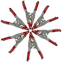 YSYANG - Pinzas de sujeción con resorte para toldos de estudio de fotografía (5 unidades), rojo