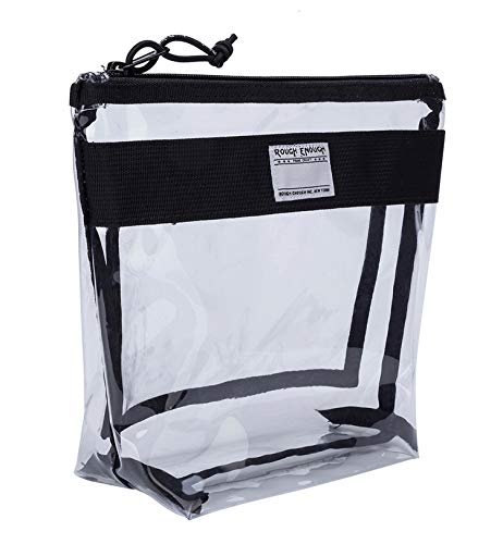 nktion Eco Transparent Fancy TSA zugelassene Toilettentasche Clear Make-up Case Kosmetik-Veranstalter auf Reisezubehör Aufbewahrungsbeutel Halter mit Fach für Schule Strandfahrt ()
