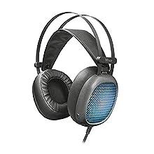 Trust Lumen Casque Audio Filaire pour Smartphone et Tablette, LED Lumineuse - Noir
