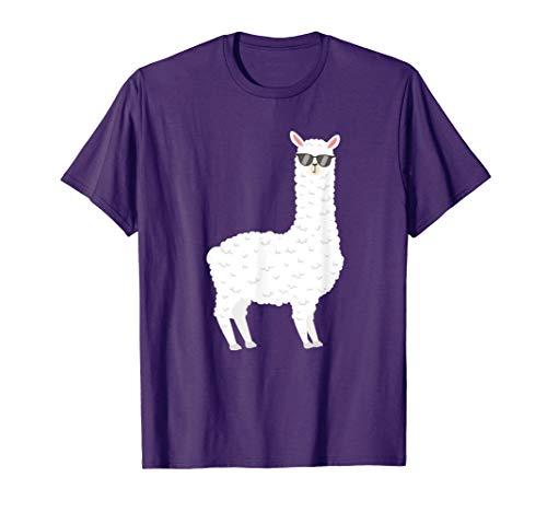 Alpaka Be cool - Sonnenbrille - Lama - T-Shirt lila  T-Shirt