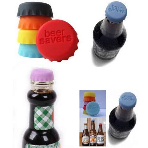12pcs Flaschenverschluss | Beer Saver | Kronkorken | Bottle Cap | Verschluss | Deckel | Flaschenmarkierer | Umweltfreundlicher Stöpsel aus Silicon wiederverwendbar